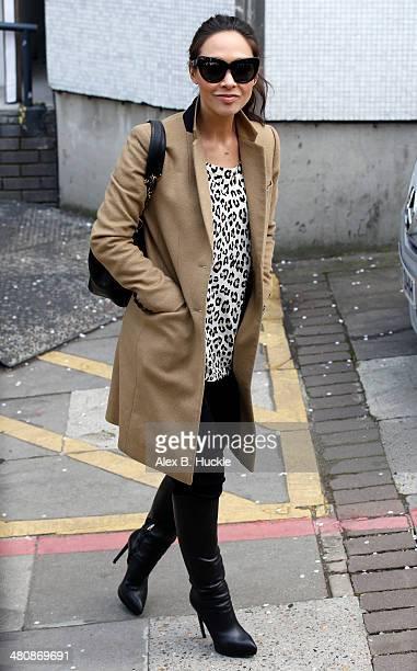 Myleene Klass leaves the ITV studios after hosting 'Loose Women' March 27 2014 in London England
