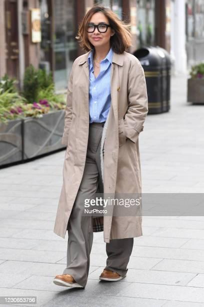Myleene Klass seen arriving at Global Studios, Smooth FM, London UK, 18 January 2021