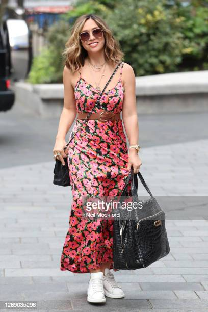 Myleene Klass seen arriving at Smooth Radio Studios on August 27 2020 in London England