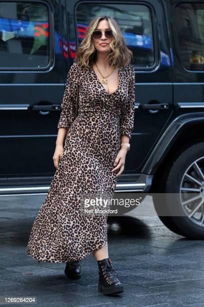 Myleene Klass seen arriving at Smooth Radio Studios on August 28 2020 in London England
