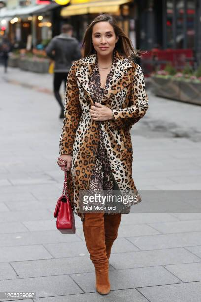 Myleene Klass seen arriving at Smooth Radio Studios on February 10, 2020 in London, England.