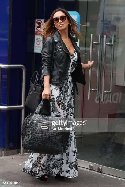 Myleene Klass seen arriving at Smooth Radio Studios on May 11 2017 in London England