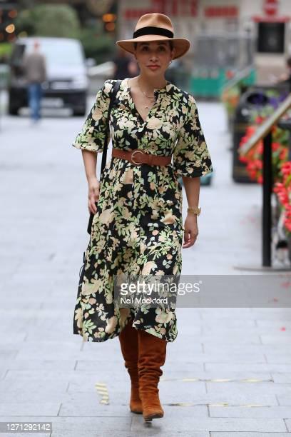 Myleene Klass seen arriving at Smooth Radio Studios on September 08 2020 in London England