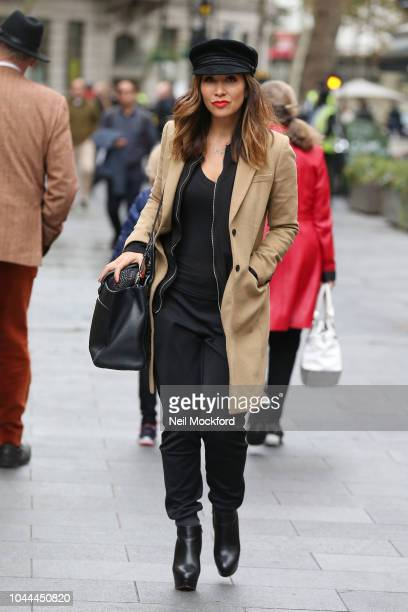 6414755141484 Myleene Klass seen arriving at the Smooth Radio Studios on October 2 2018  in London England