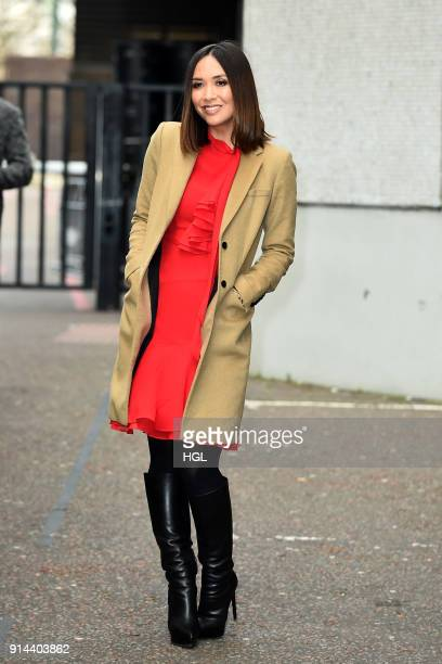 Myleene Klass seen at the ITV Studios on February 5 2018 in London England