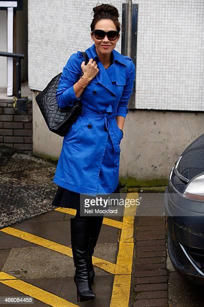 Myleene Klass seen at the ITV Studios on January 31 2014 in London England