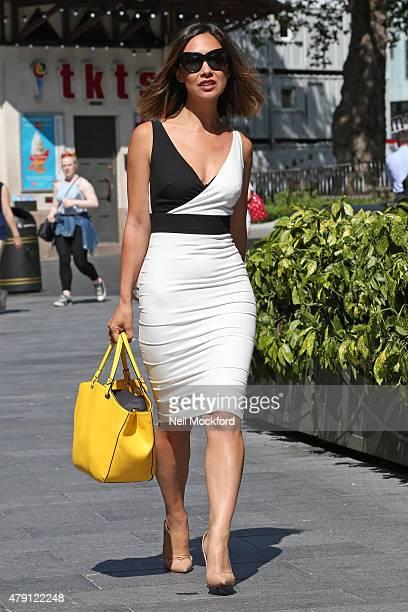 Myleene Klass seen leaving Smooth FM on July 1 2015 in London England