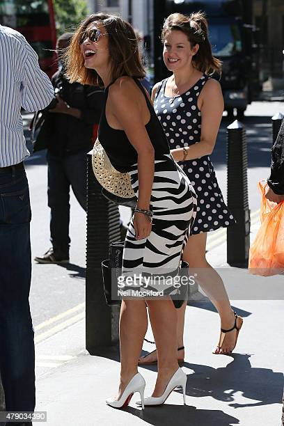 f090467ec117d Myleene Klass seen leaving Smooth Radio on June 30 2015 in London England