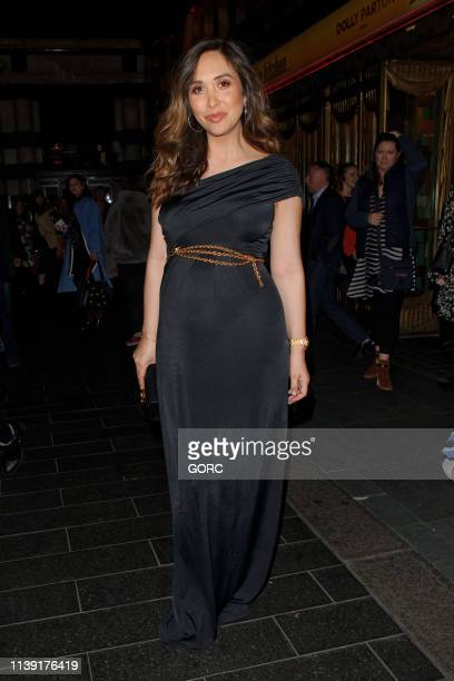 Myleene Klass seen leaving the Savoy theatre on March 29 2019 in London England