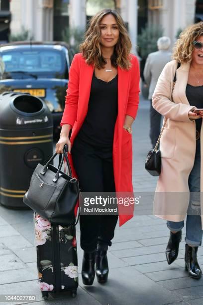 Myleene Klass seen leaving the Smooth Radio Studios on October 1 2018 in London England