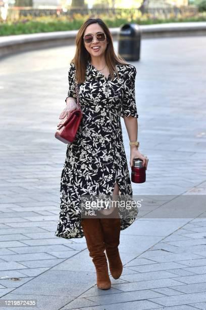 Myleene Klass seen outside the Global Radio studios on April 20, 2020 in London, England.