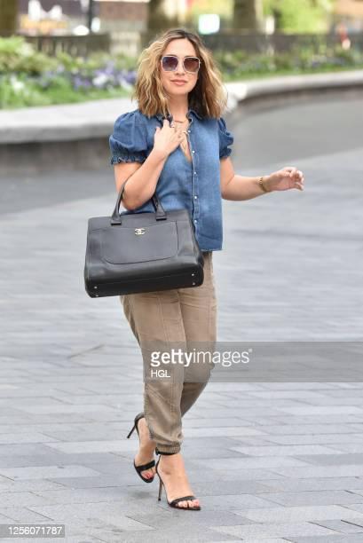 Myleene Klass sighting on July 14, 2020 in London, England.