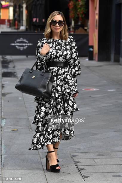 Myleene Klass sighting on July 24, 2020 in London, England.