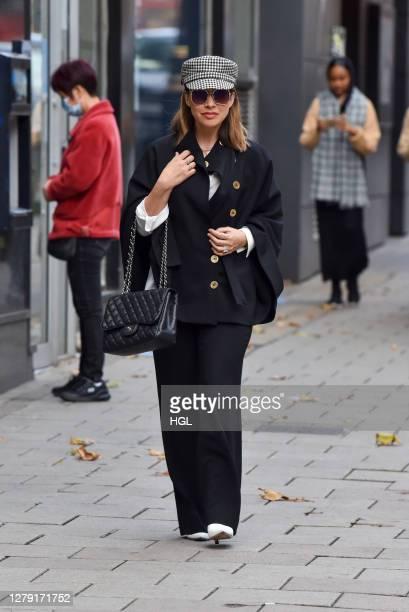 Myleene Klass sighting on October 08, 2020 in London, England.