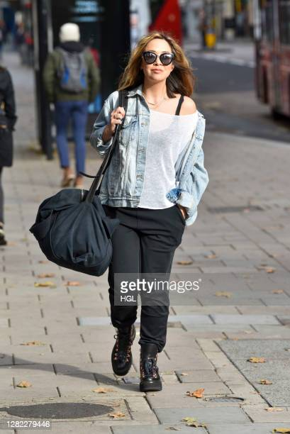 Myleene Klass sighting on October 26, 2020 in London, England.