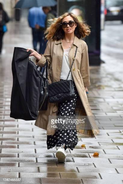 Myleene Klass sighting on October 27, 2020 in London, England.