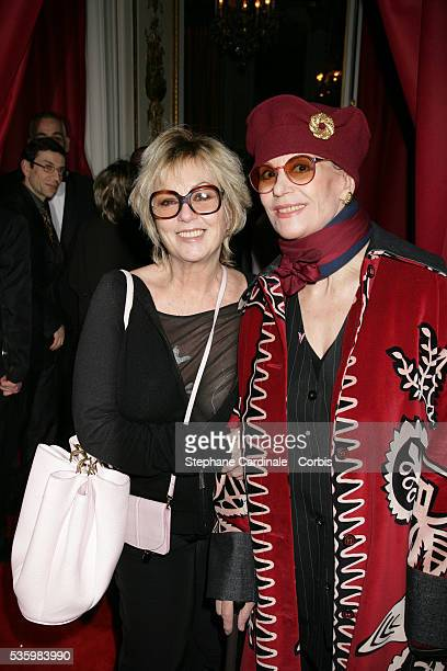 Mylene Demongeot and Claudine Auger attend the Chaumet party