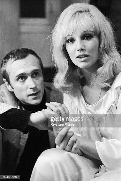 Mylene Demongeot And Marc Simenon In Paris