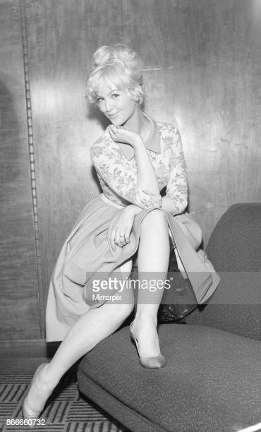 Mylene Demongeot french actress pictured at press reception for her new film Upstairs and Downstairs she plays the character Ingrid London London...
