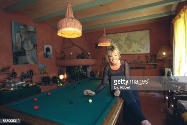 Mylene Demongeot in the billiards room