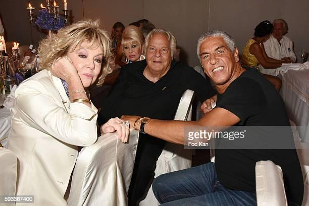 Mylene Demongeot Massimo Gargia Ivana Trump and Samy Naceri attend the Massimo Gargia Birthday Party at Hotel de Paris of Saint Tropez on August 21...