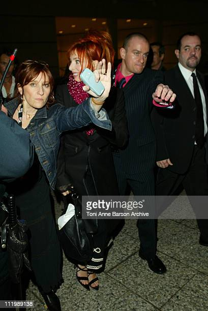 Mylene Farmer during NRJ Music Awards 2003 Cannes Back Door Entree des Artistes at Palais des Festivals in Cannes France