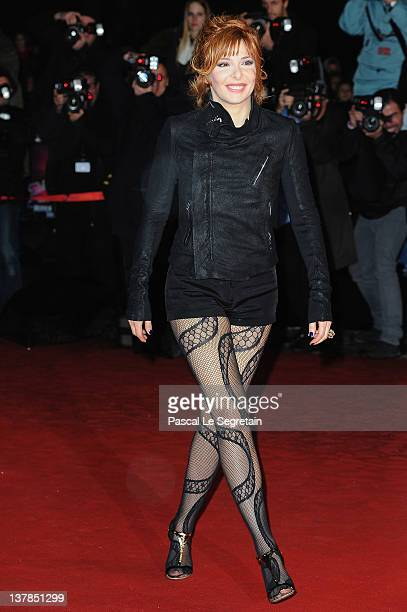 Mylene Farmer poses as she arrives at NRJ Music Awards 2012 at Palais des Festivals on January 28 2012 in Cannes France
