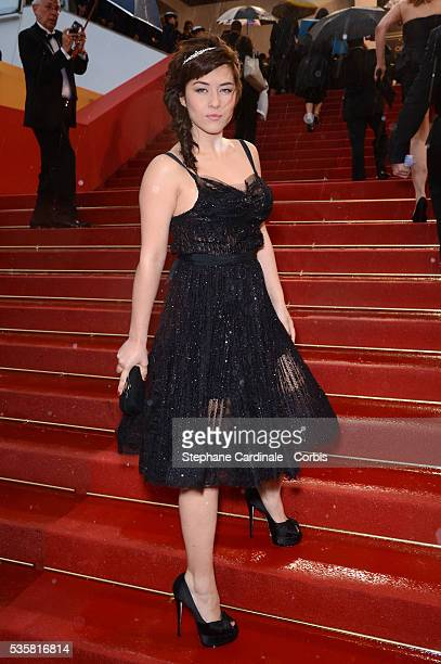 """Mylene Jampanoi at the premiere for """"Amour"""" during the 65th Cannes International Film Festival."""