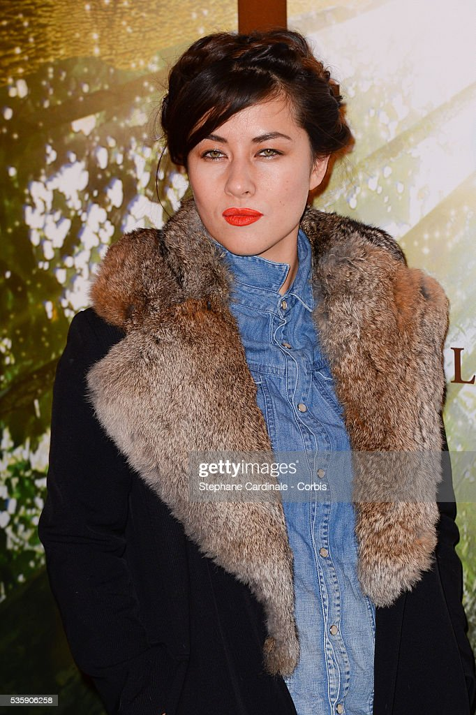 Mylene Jampanoi attends the 'Il etait une foret' Paris Premiere at Cinema Gaumont Marignan, in Paris.