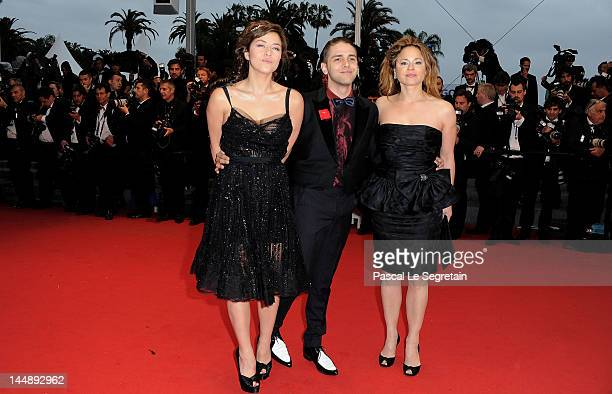 Mylene Jampanoi director Xavier Dolan and actress Suzanne Clement attend the 'Amour' premiere during the 65th Annual Cannes Film Festival at Palais...
