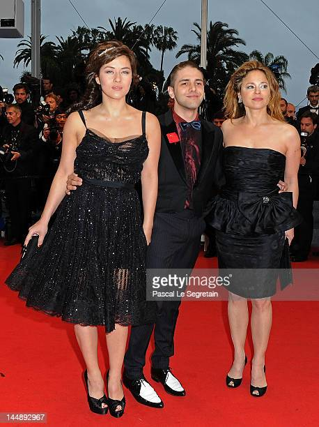 """Mylene Jampanoi, director Xavier Dolan and actress Suzanne Clement attend the """"Amour"""" premiere during the 65th Annual Cannes Film Festival at Palais..."""