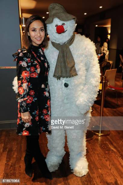 Mylene Klass attends the 20th anniversary gala performance of The Snowman at Sadlers Wells Theatre on November 25 2017 in London England