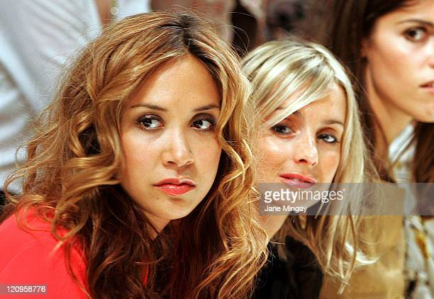 Mylenne Klass and Louise Redknapp during London Fashion Week Spring/Summer 2007 Gharani Strok Runway in London Great Britain