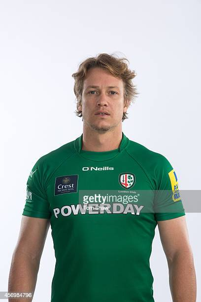 Myles Dorrian of London Irish poses for a picture during the BT PhotoShoot at Sunbury Training Ground on August 27 2014 in Sunbury England