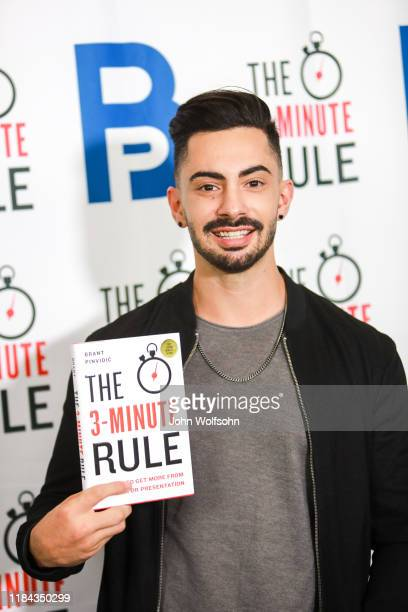 Myles Hass attends a red carpet event featuring business influencers celebrities and leading network executives gather to celebrate Brant Pinvidic's...