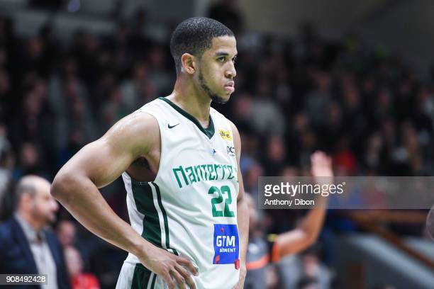 Myles Hesson of Nanterre during the Pro A match between Nanterre 92 and Monaco on January 21 2018 in Nanterre France
