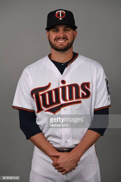 Myles Jaye of the Minnesota Twins poses during Photo Day on Wednesday February 21 2018 at CenturyLink Sports Complex in Fort Myers Florida
