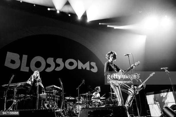 Myles Kellock Joe Donovan Tom Ogden and Charlie Salt of Blossoms perform live on stage during a concert as support for Noel Gallagher's High Flying...