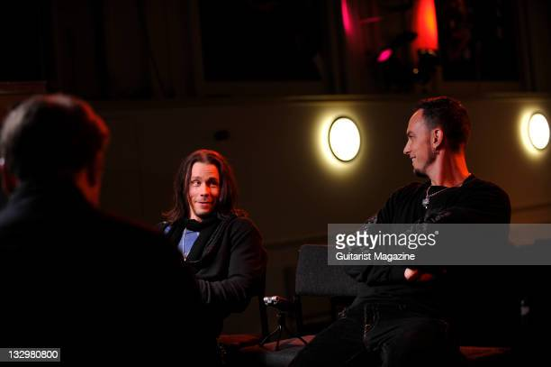Myles Kennedy and Mark Tremonti of American rock band Alter Bridge During an interview on October 26 Colston Hall