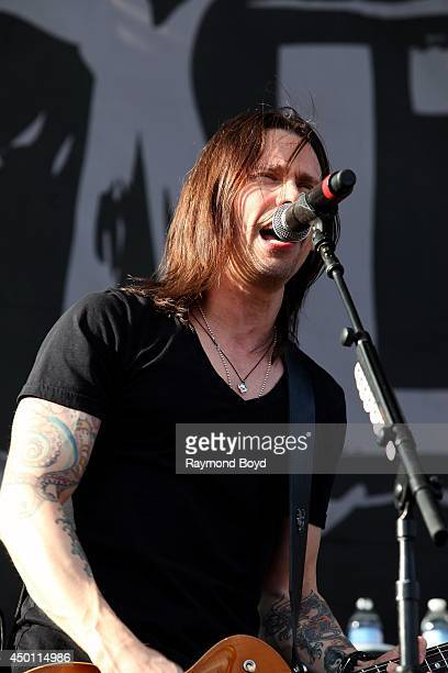 Myles Kennedy from Alter Bridge performs at Columbus Crew Stadium on May 18 2014 in Columbus Ohio