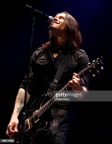 Myles Kennedy of Alter Bridge performs at Brixton Academy on November 8 2008 in London England