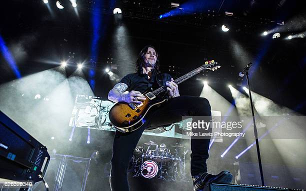 Myles Kennedy of Alter Bridge performs at Motorpoint Arena on November 28 2016 in Cardiff Wales