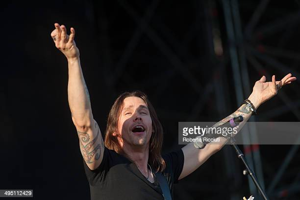 Myles Kennedy of Alter Bridge performs on stage during Rock In Idro Day 3 at Arena Joe Strummer on June 1, 2014 in Bologna, Italy.