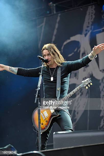 Myles Kennedy of American rock band Alter Bridge live on stage at Download Festival June 10 Donington Park