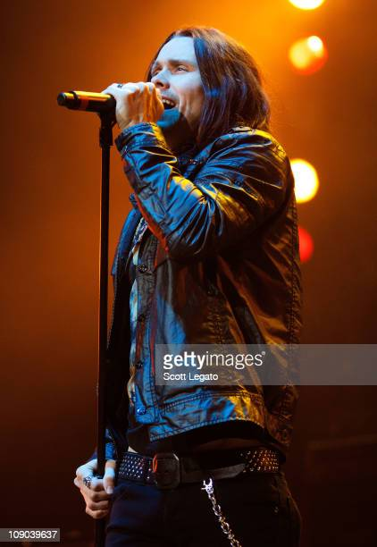 Myles Kennedy performs at The Palace of Auburn Hills on February 12 2011 in Auburn Hills Michigan