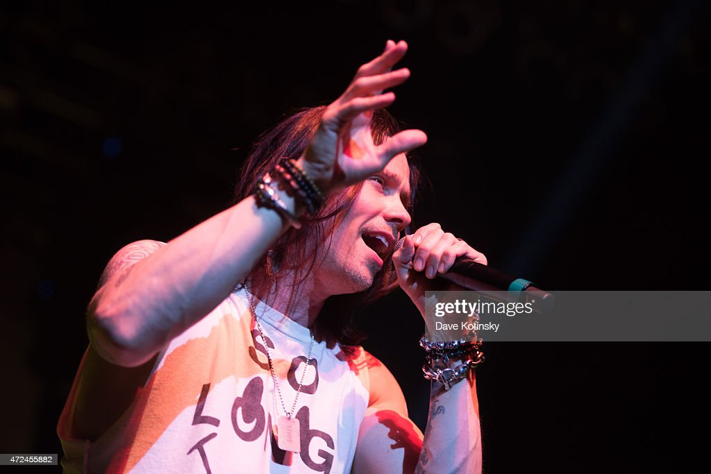 Myles Kennedy performs for the 'Slash featuring Myles Kennedy and The Conspirators concert' at Terminal 5 on May 7, 2015 in New York City.