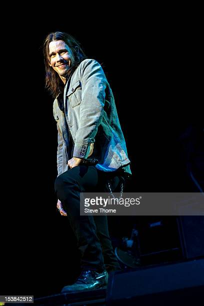 Myles Kennedy performs on stage with Slash at NIA Arena on October 9 2012 in Birmingham United Kingdom
