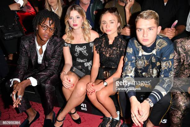 Myles O'Neal Bea Fresson Amelia Windsor and Rafferty Law attends the Dolce Gabbana show during Milan Fashion Week Spring/Summer 2018 on September 24...