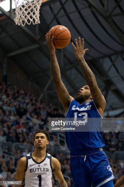 Myles Powell of the Seton Hall Pirates shoots the ball in the game against the Butler Bulldogs during the second half at Hinkle Fieldhouse on...