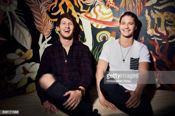 Myles Shear and Kygo are photographed for Billboard Magazine on May 18 2017 in Hollywood California